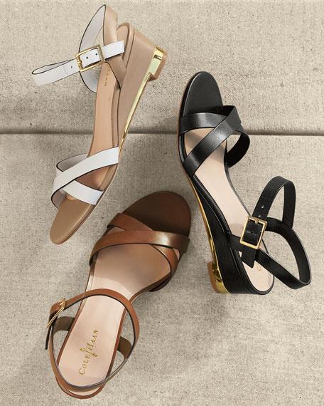 Melrose Low-Wedge Sandal, Sequoia