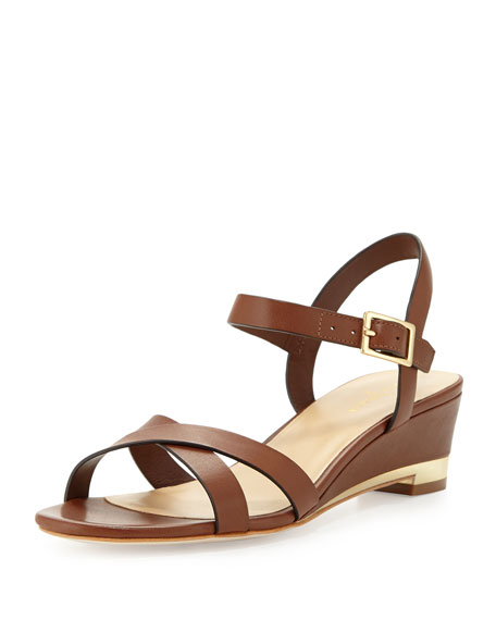 Melrose Low-Wedge Sandal, Sequoia