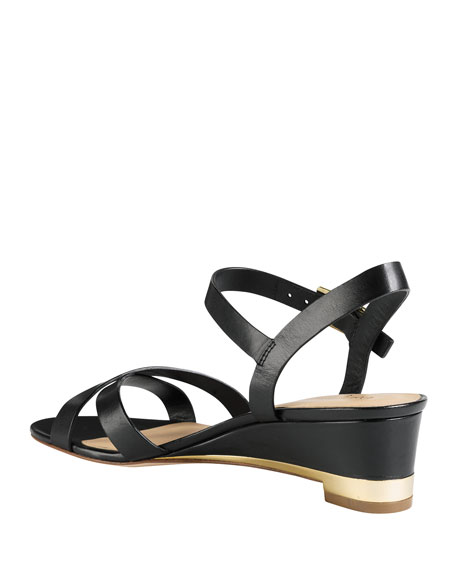 Melrose Low-Wedge Sandal, Black