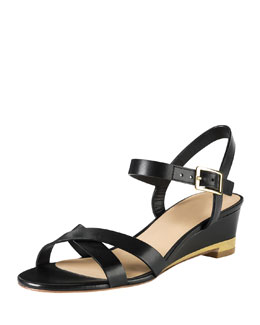 Cole Haan Melrose Low-Wedge Sandal, Black