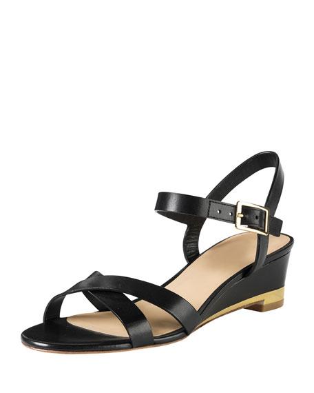 Melrose Low-Wedge Sandal, Black