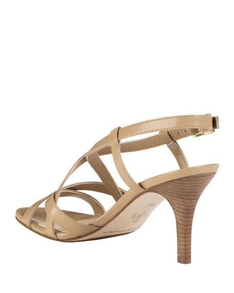 Barlett Air Crisscross Leather Sandal, Sandstone