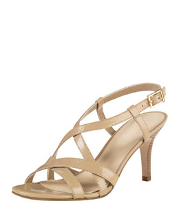 Cole Haan Barlett Air Crisscross Leather Sandal, Sandstone