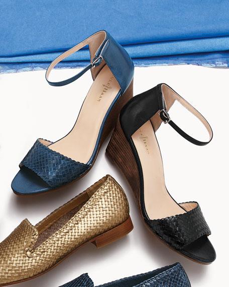Rosalin Woven Wedge Sandal, Black