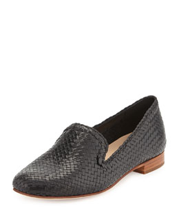Cole Haan Sabrina Woven Leather Loafer, Black