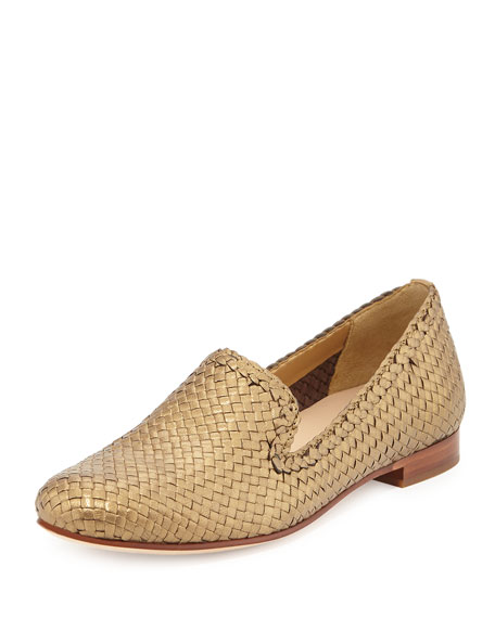 Cole HaanSabrina Woven Metallic Loafer, Gold