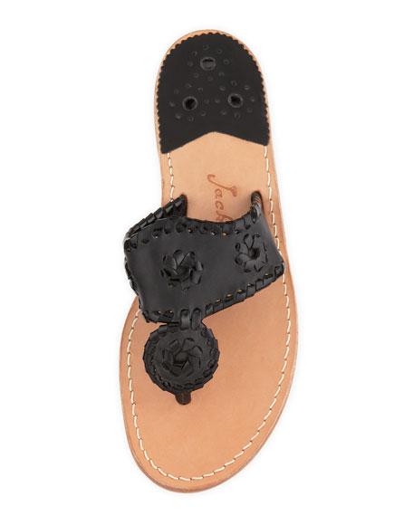 Palm Beach Whipstitch Thong Sandal, Black