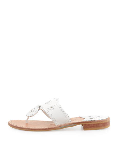 Palm Beach Whipstitch Thong Sandal, White