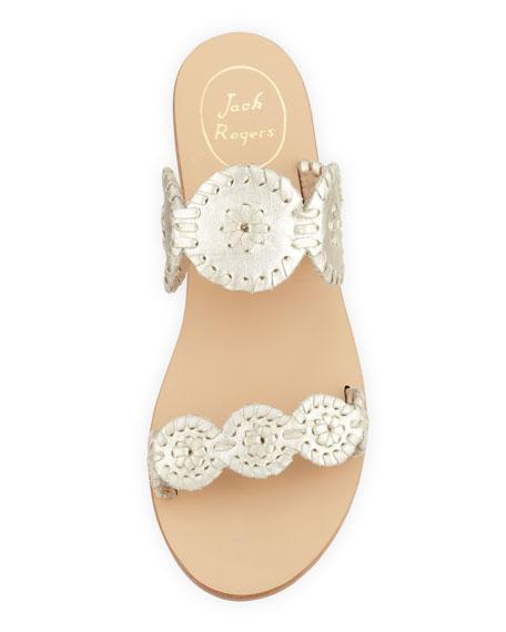 Lauren Double-Strap Sandal, Platinum