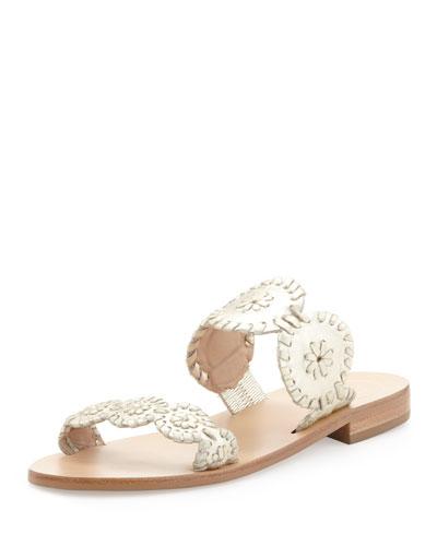 Jack Rogers Lauren Double-Strap Sandal, Platinum