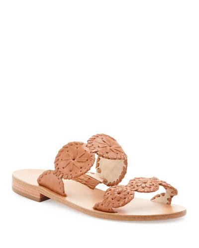 Jack Rogers Lauren Double-Strap Sandal, Cognac