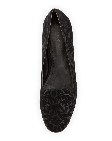 Millie Brocade Loafer, Black