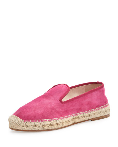 Dee Suede Espadrille Loafer, Fuchsia