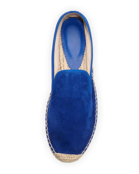 Dee Suede Espadrille Loafer, Electric Blue