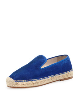 elysewalker los angeles Dee Suede Espadrille Loafer, Electric Blue
