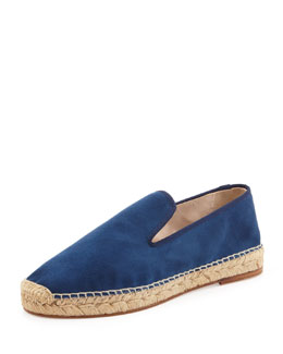 elysewalker los angeles Dee Suede Espadrille Loafer, Navy