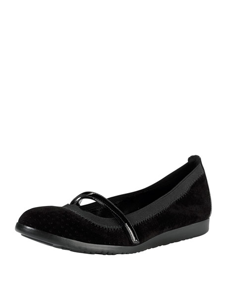Gilmore Mary Jane Stretch Flat, Black