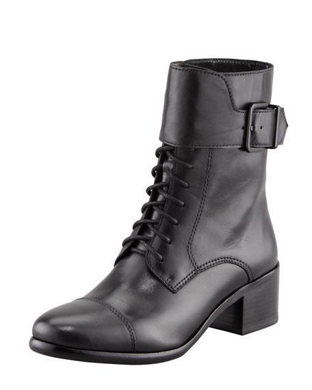 Sibel Cap-Toe Combat Boot