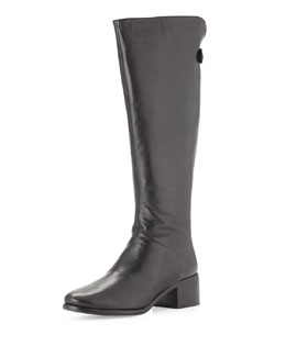 Pour la Victoire Silvianne Leather Knee Boot, Black