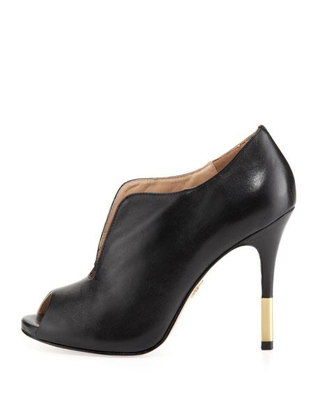 Vivie Leather Bootie, Black