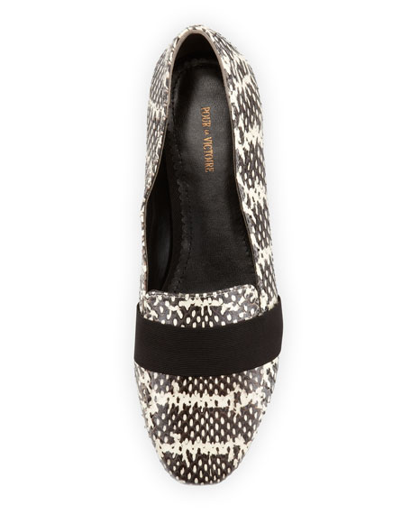 Zarine Snakeskin Loafer, Natural