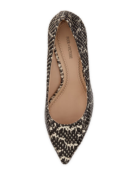 Isa Watersnake Dress Pump