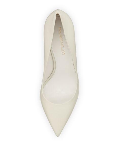 Tamara Mellon Napa Point-Toe Pump, Cream