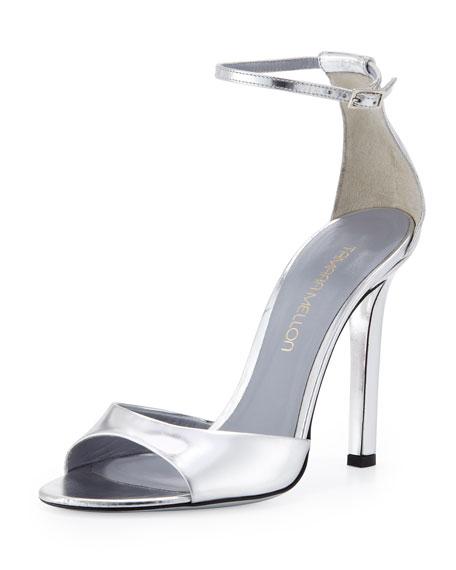 Metallic Specchio Ankle-Wrap Sandal