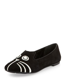 MARC by Marc Jacobs Rue Cat-Face Smoking Slipper