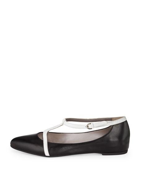 Yasmine Two-Tone T-Strap Sandal
