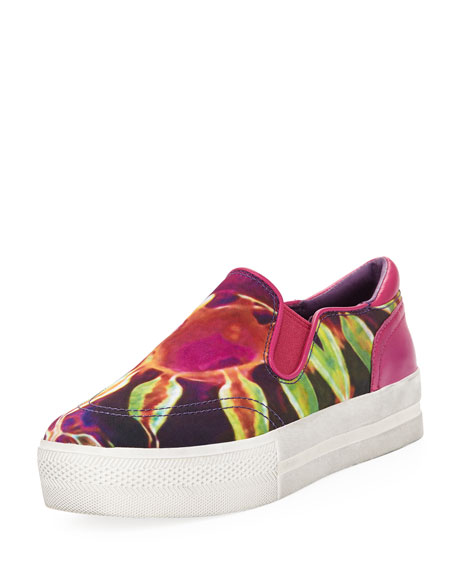 Jungle Blis Medusa Slip-On, Bordeaux/Yellow