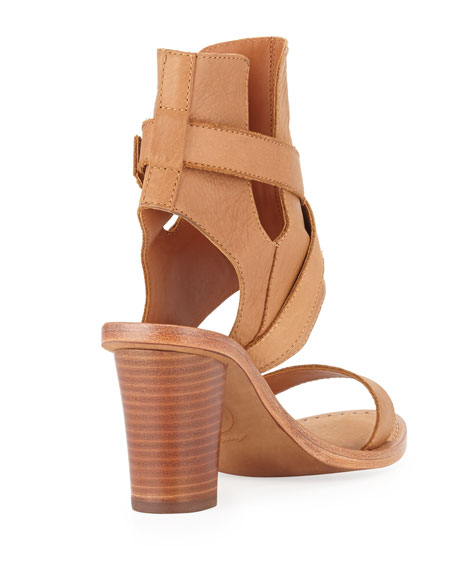 Queenie Ankle-Wrap City Sandal, Cookie