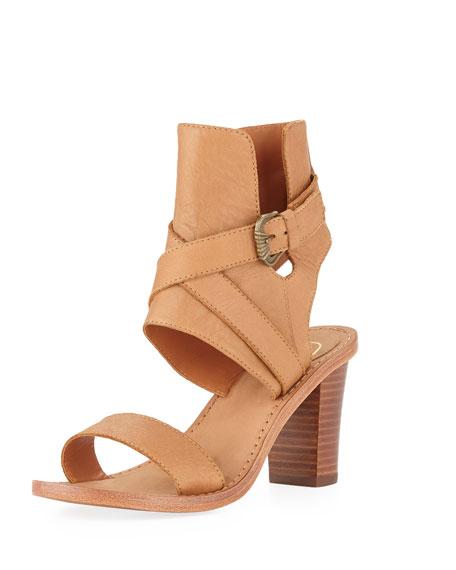 Queenie Ankle-Wrap City Sandal, Cookie