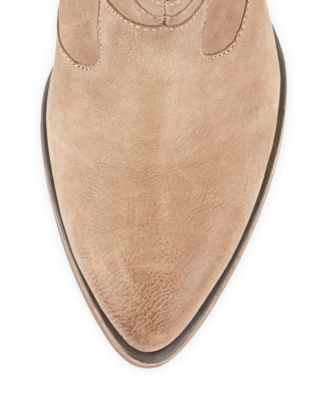 Loco Fringe Wedge Ankle Boot, Taupe