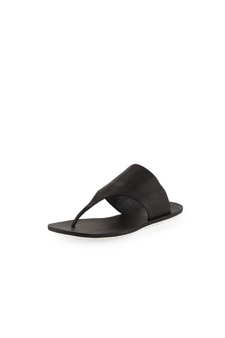 Core Leather Thong Sandal, Black