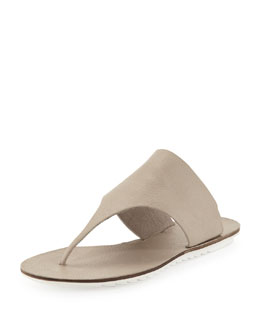 Eileen Fisher Core Leather Thong Sandal, Earth