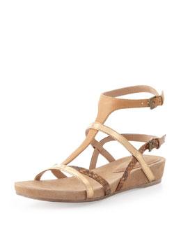Eileen Fisher Mojo Strappy Flat Sandal, Rum