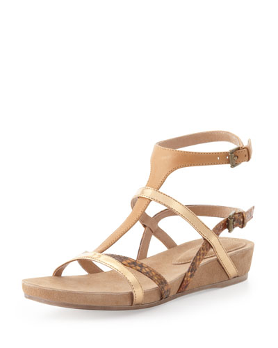 Eileen Fisher Mojo Strappy Flat Sandal, Rum