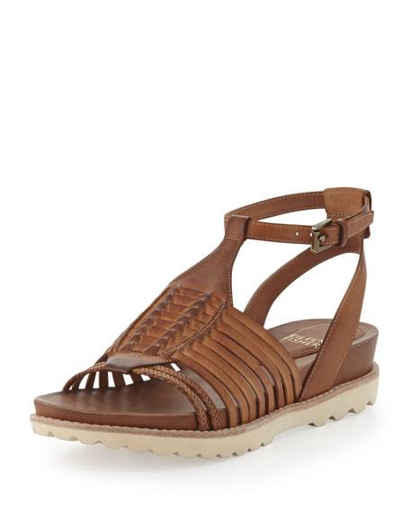 Karma Huarache Leather Sandal, Toffee