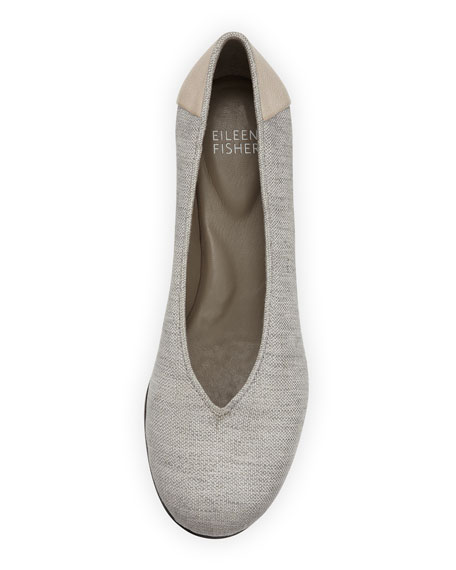 Patch 1 Woven Ballerina Flat, Silver