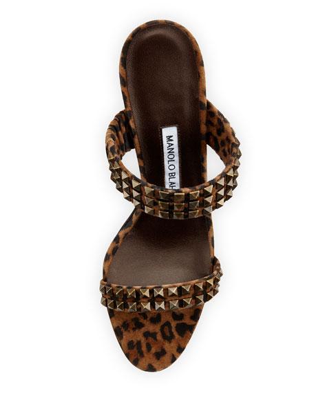 Harley Leopard-Print Suede Sandal