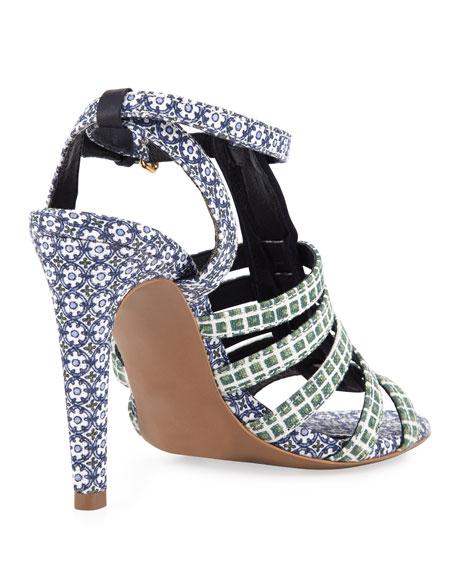 Charlene Printed Sandal, Ressoa Blue