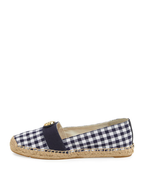 Tory Burch Beacher Gingham Flat Espadrille