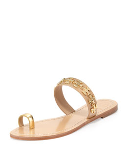 Tory Burch Val Patent Toe Ring Sandal