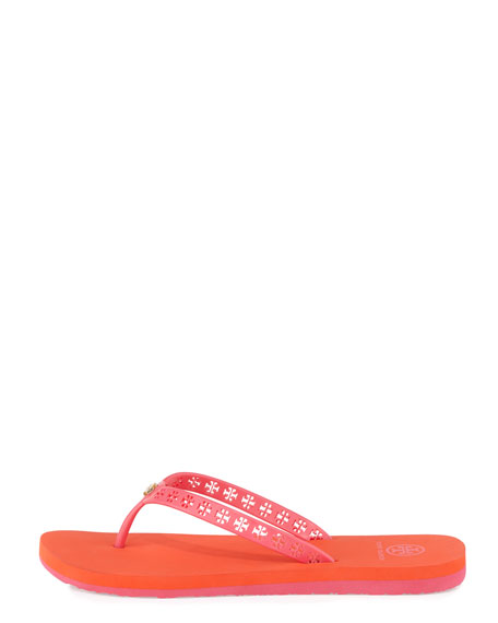 Miranda Logo-Cutout Flip-Flop, Bougainvillea Pink