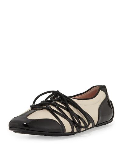 Taryn Rose Candyce Lace-Up Sneaker, Bone/Black