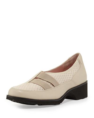 Taryn Rose Tuuli Double-Strap Slip-On Sneaker, Bone