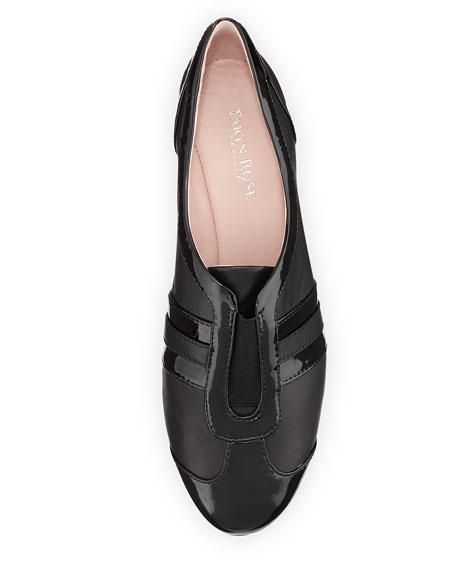 Paislee Striped Wedge Sneaker, Black