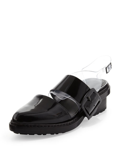 Cristobal Slingback Sandal, Black/Clear