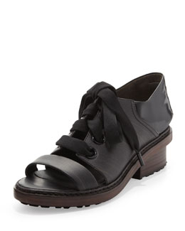 3.1 Phillip Lim Floreana Lace-Up Loafer, Ebony